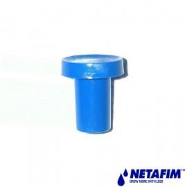Bouchon bleu conique mâle 8mm