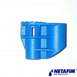 Adaptateur Supernet Ø 6 mm en plastique bleu