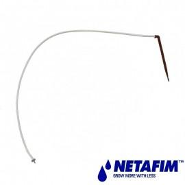 Goutteur PCJ CNL 2 l/h horsol autorégulant à clapet monté avec pic 45° plast et microtube 0.60 m
