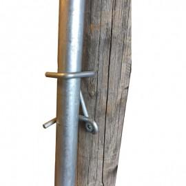 Support de canne en fil de 6 mm + visserie